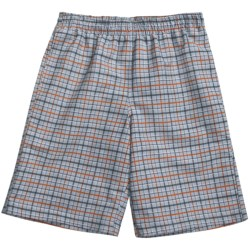 Grayson Plaid Swim Trunks (For Men)