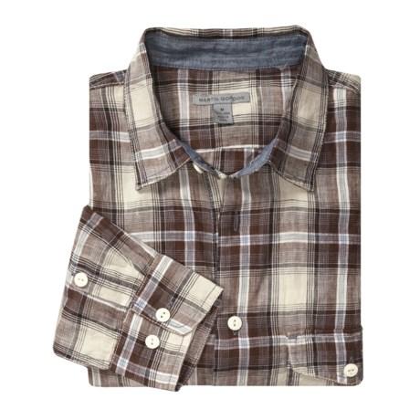 Martin Gordon Plaid Linen Shirt - Long Sleeve (For Men)