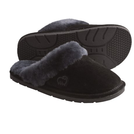 LAMO Footwear Sheepskin Scuff Slippers - Suede (For Women)