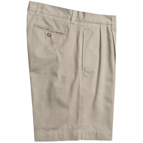 Vintage 1946 Cotton Twill Shorts - Pleated (For Men)