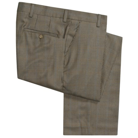 Barry Bricken Silk-Wool Pants - Flat Front (For Men)