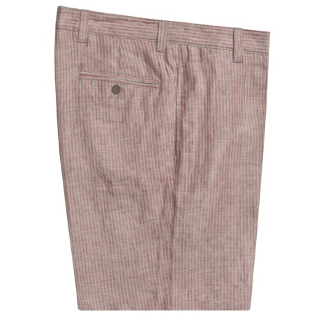 Charleston Khaki by Berle Stripe Shorts - Linen (For Men)