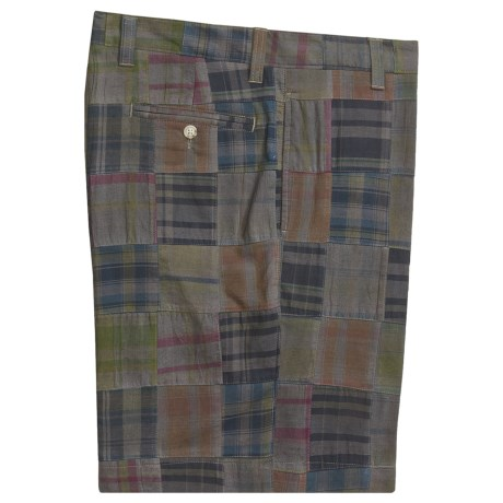 Vintage 1946 Patch Madras Shorts - Flat Front (For Men)