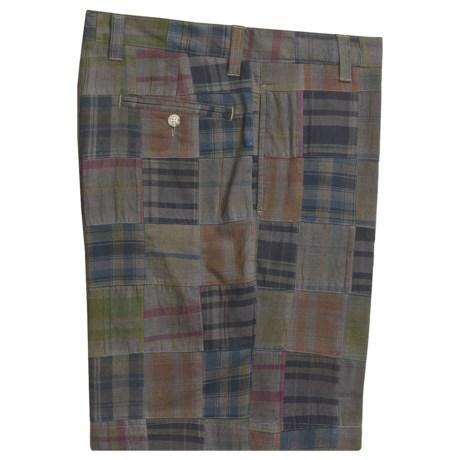 Vintage 1946 Patch Madras Shorts - Flat Front (For Men)