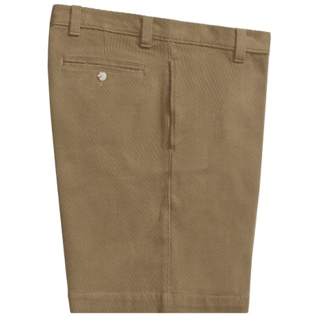 Vintage 1946 Cotton Canvas Shorts - Flat Front (For Men)