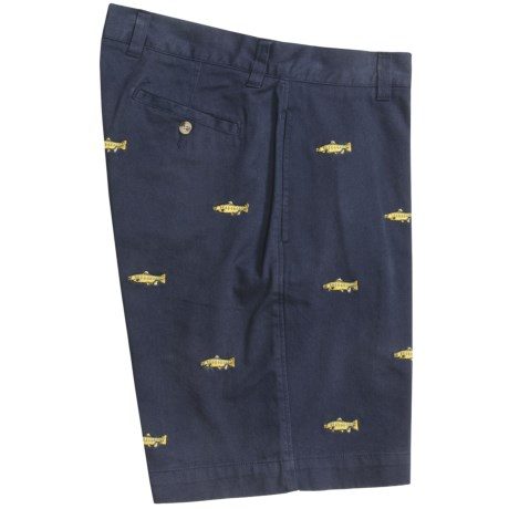 Vintage 1946 Embroidered Cotton Twill Shorts (For Men)