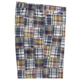 Berle Patch Madras Shorts - Cotton (For Men)