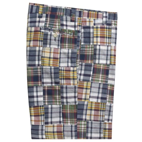 Berle Patch Madras Shorts - Cotton (For Men)