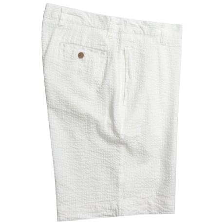 Vintage 1946 Cotton Seersucker Shorts - Flat Front (For Men)