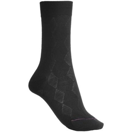 Pantherella Fancy Checks-and-Diamonds Socks - Merino Wool, Mid-Calf (For Women)