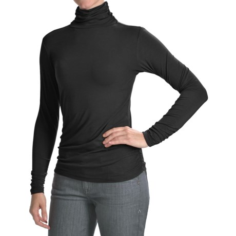 Bamboo Dreams® by Yala Paige Gathered Turtleneck - Long Sleeve (For Women)