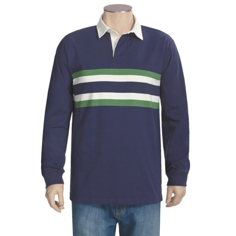 Rugby Stripe Shirt - Cotton, Long Sleeve (For Tall Men)