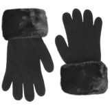 Parkhurst Faux-Fur Cuff Gloves (For Women)