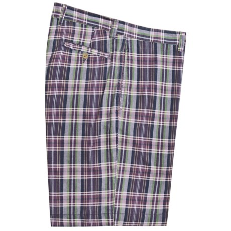 Vintage 1946 Cotton Plaid Shorts (For Men)