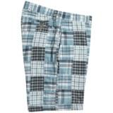 Vintage 1946 Patchwork Cotton Madras Shorts (For Men)