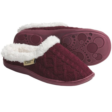 Snowy Creek Crochet Slippers (For Women)
