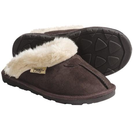 Snowy Creek Clipper Scuff Slippers (For Women)