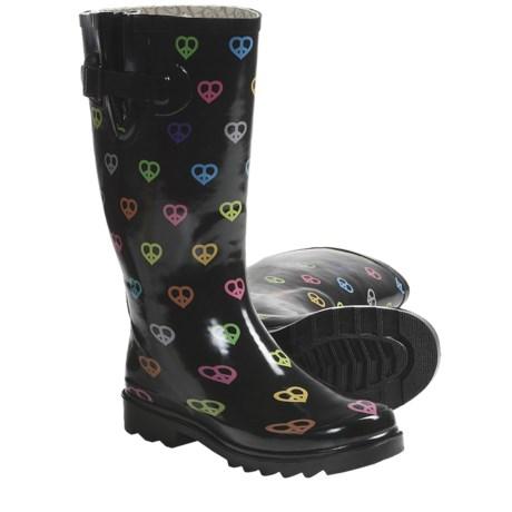 Chooka Peace N' Hearts Buckle Rain Boots - Waterproof Rubber (For Women)