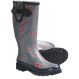 Chooka Dotty Flowers Buckle Rain Boots (For Women)