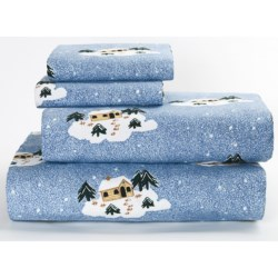 Loric Home Styles Printed Flannel Sheet Set - King