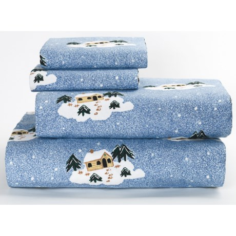 Loric Home Styles Printed Flannel Sheet Set - Twin