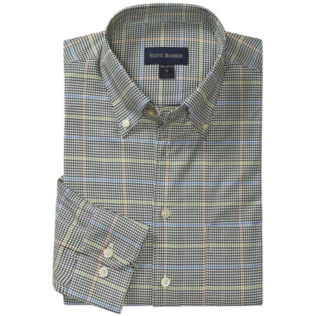 Scott Barber James 4x4 Houndstooth Sport Shirt - Long Sleeve (For Men)