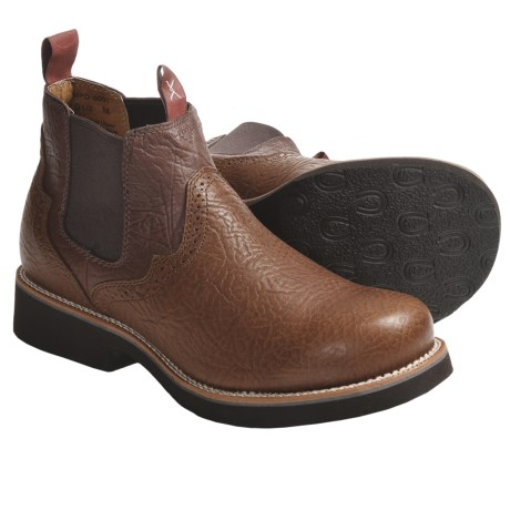 Twisted X Boots Prairie Dog Shoes - Leather, K-Toe, Slip-Ons (For Men)