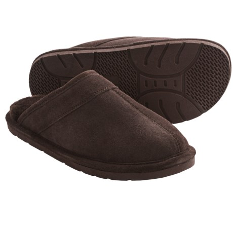 Dije California Suede Scuff Slippers - Sheepskin Lined (For Men)