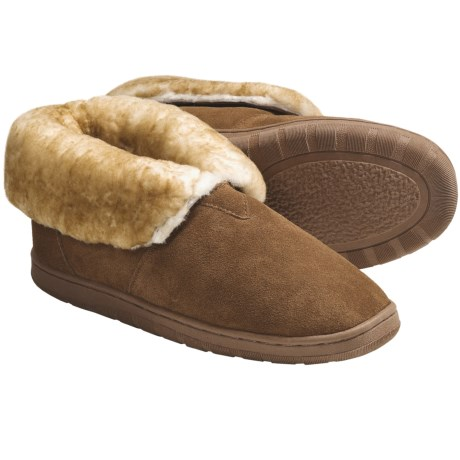 LAMO Footwear Bootie Slippers - Suede, Sheepskin Lined (For Men)