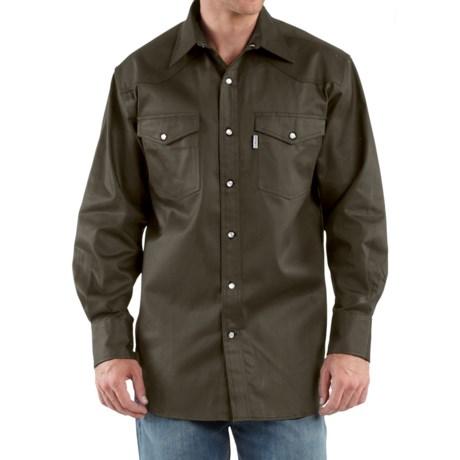 Carhartt Snap-Front Twill Work Shirt - Long Sleeve (For Men)