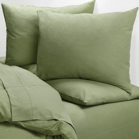 Coyuchi Slub Organic Cotton Jersey Pillowcases - Standard
