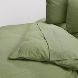Coyuchi Slub Jersey Organic Cotton Duvet Cover - Full-Queen