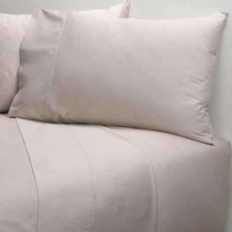 Coyuchi Organic Cotton Sateen Flat Sheet - King-California King, 300 TC