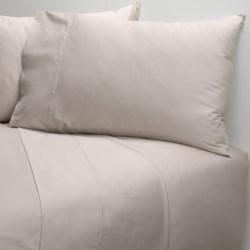 Coyuchi Cotton Sateen Fitted Sheet - Queen, 300 TC