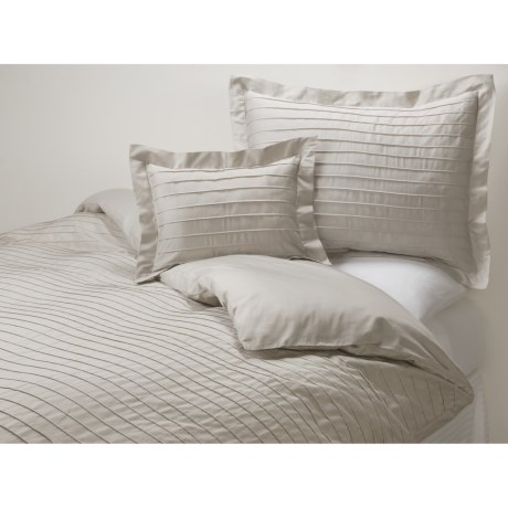 Coyuchi Pintuck Pillow Sham -  Standard, 300 TC Organic Cotton Sateen