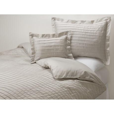 Coyuchi Pleated Sateen Pillow Sham - Boudoir, 300 TC