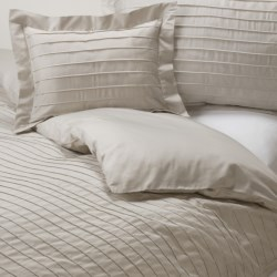 Coyuchi Pleated Sateen Duvet Cover - King, Organic Cotton