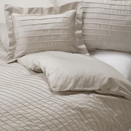 Coyuchi Pleated Sateen Duvet Cover - King, Organic Cotton