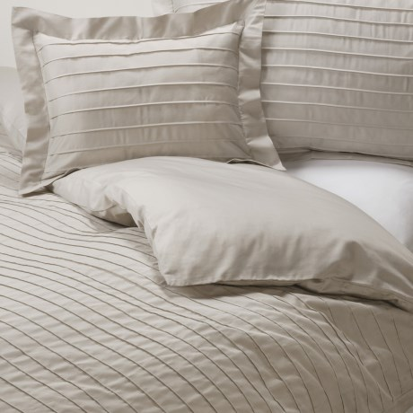 Coyuchi Pleated Sateen Duvet Cover - Full-Queen, Organic Cotton