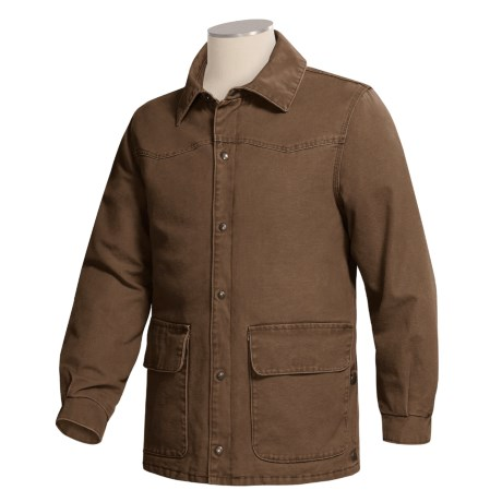 Work King Ranch Jacket - Quilted, Washed Canvas (For Men)