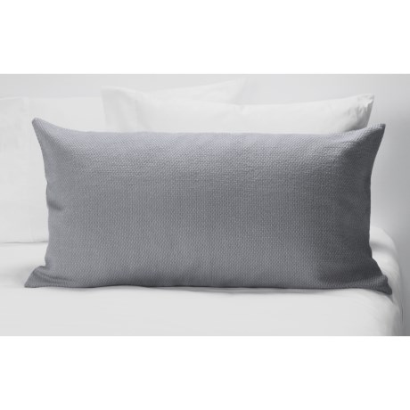 Coyuchi Khadi Textured Diamond Pattern Pillow Sham - King, Organic Cotton