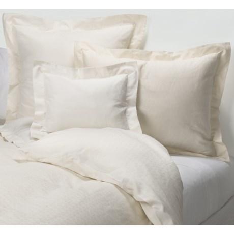 Coyuchi Diamond Jacquard Duvet Cover - King, Organic Cotton, 300 TC