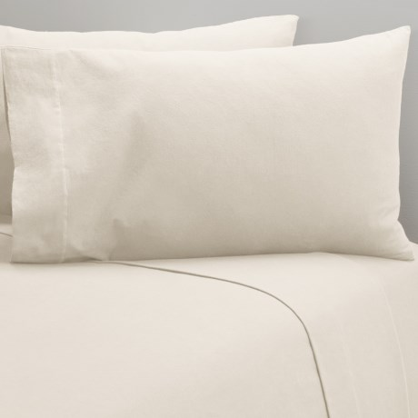 Coyuchi Cloud Brushed Flannel Pillowcases - King, Organic Cotton