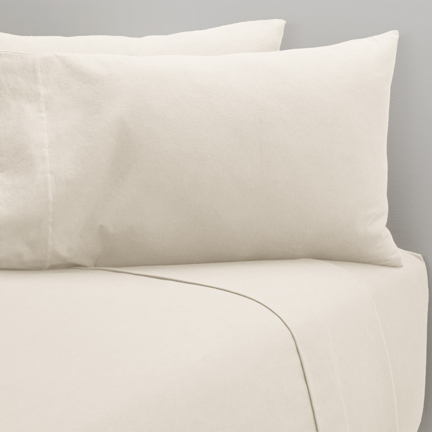Coyuchi Cloud Brushed Flannel Fitted Sheet Full Organic