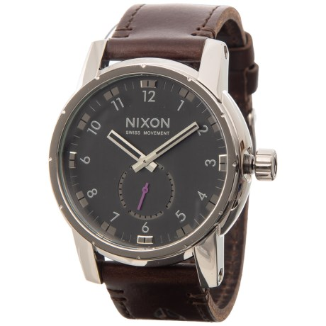 Nixon Patriot Chronograph Watch - Leather Strap (For Men and Women)