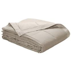 Blue Ridge Home Fashions White Goose Down Blanket - Twin, 300 TC Cotton Twill