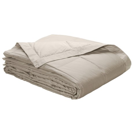 Blue Ridge Home Fashions White Goose Down Blanket - Twin, 300 TC Cotton Twill