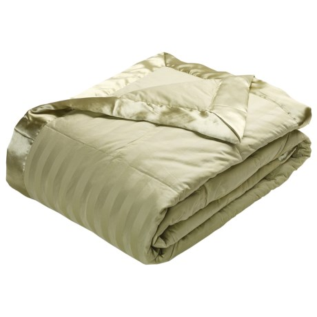 Royal Velvet Damask Stripe Down Blanket - Full/Queen, 350TC Cotton