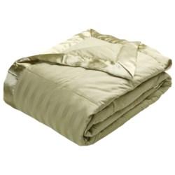 Royal Velvet Damask Stripe Down Blanket - Twin, 350TC Cotton
