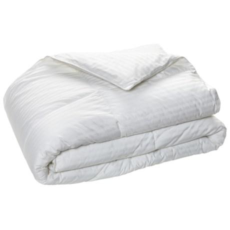 Blue Ridge Home Fashions Damask Beauty Stripe Down Alternative Comforter - King, 280 TC